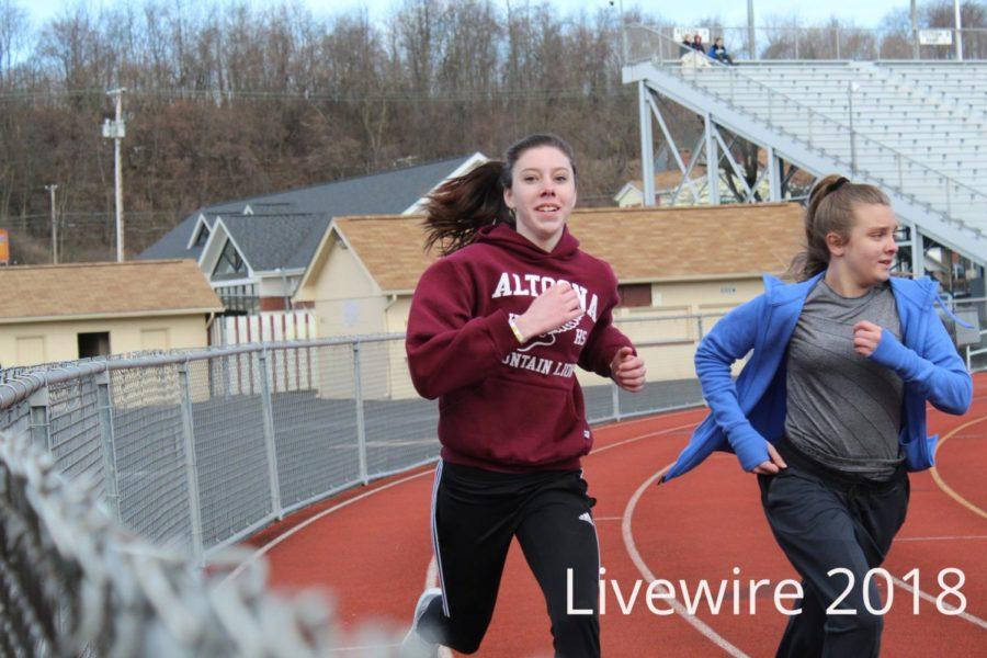 Seventh & Eighth grade track practice 3-17-18