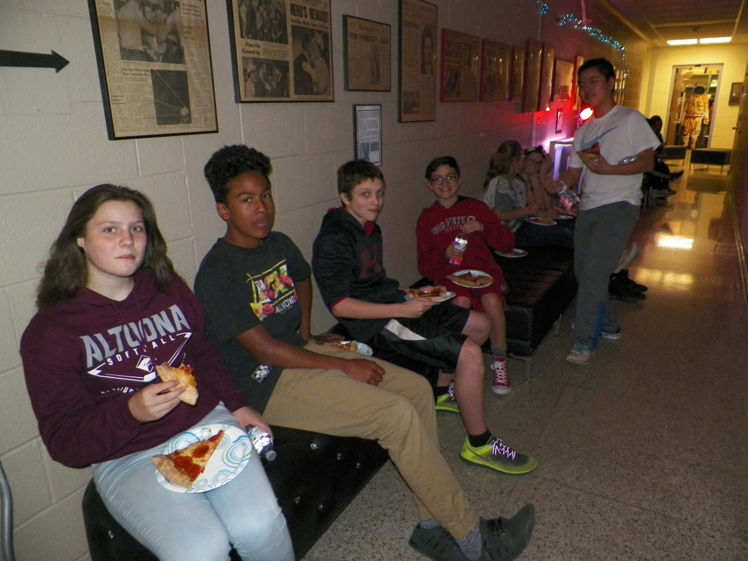 This was last year's pizza party for the students who were involved in