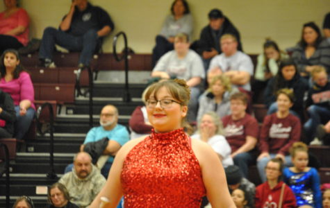 Ninth grader Becca Smith competes to win the recent TU competition on Mar. 10.