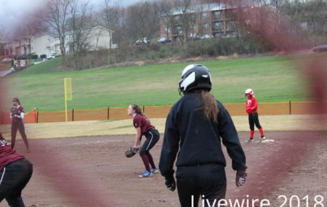 Catch. Kylee Wisor waits to catch the ball at their game. Wisor waited and helped get an out.