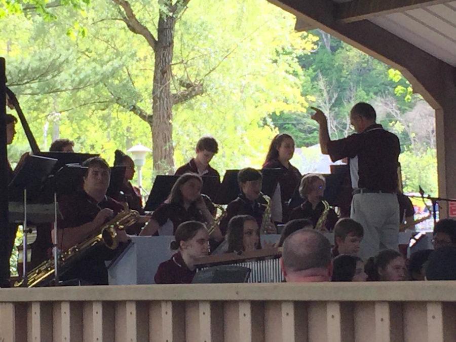 Jazz it up! The varsity jazz band plays at the Arts Festival at Penn State on May 20 at 4:30.