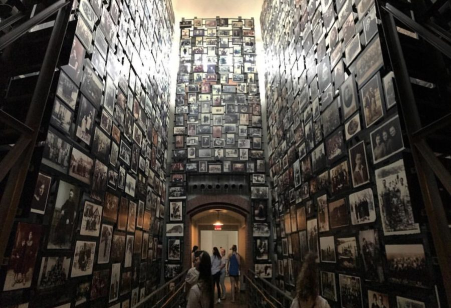 In+the+Holocaust+museum%2C+this+is+a+room+where+it+has+photographs+of+the+victims+affected+by+the+mass+genocide.