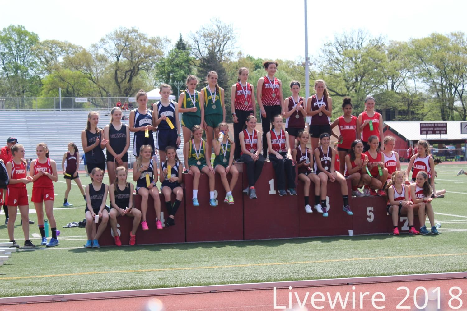We placed! The Altoona girls 4x8 rushed at their meet. The girls won and got third place.