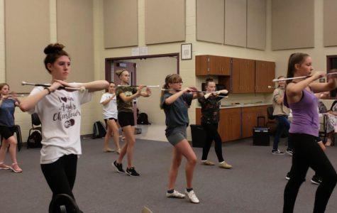 AAJHS Varsity Bandfront Practice