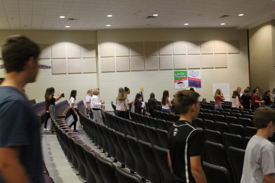 Take a seat! Students gather together to talk about school shootings.  The assembly took place in September and a lot of information was shared on how to be kind.
