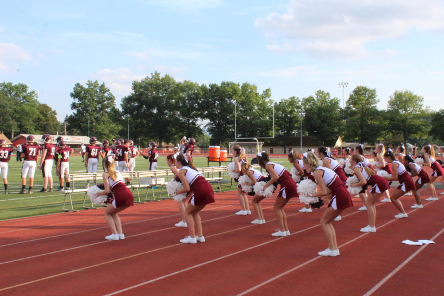 Lets go Altoona!  The cheerleaders take action from the sidelines as they rowdy up the crowd.
