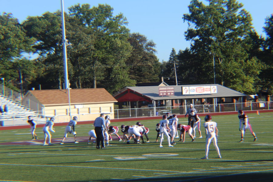 Get set! Altoona starts the game off with the ball.  The freshman football team v. State College on Oct. 18.
