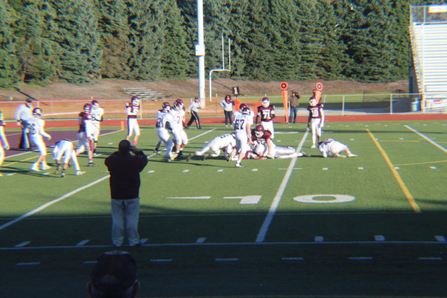 Man down!  Altoona player 22, Andre Dokes is down at the eighth yard line. Dokes then went on the score a touch down in the second quarter.