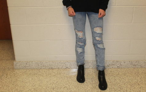 Rips and Tears These are a pair of jeans that are an example of something that would be dress coded. You can not see skin or anything
