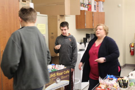 Coffee cart jump starts teachers' days