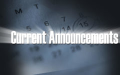 Listen up:  Announcements are important