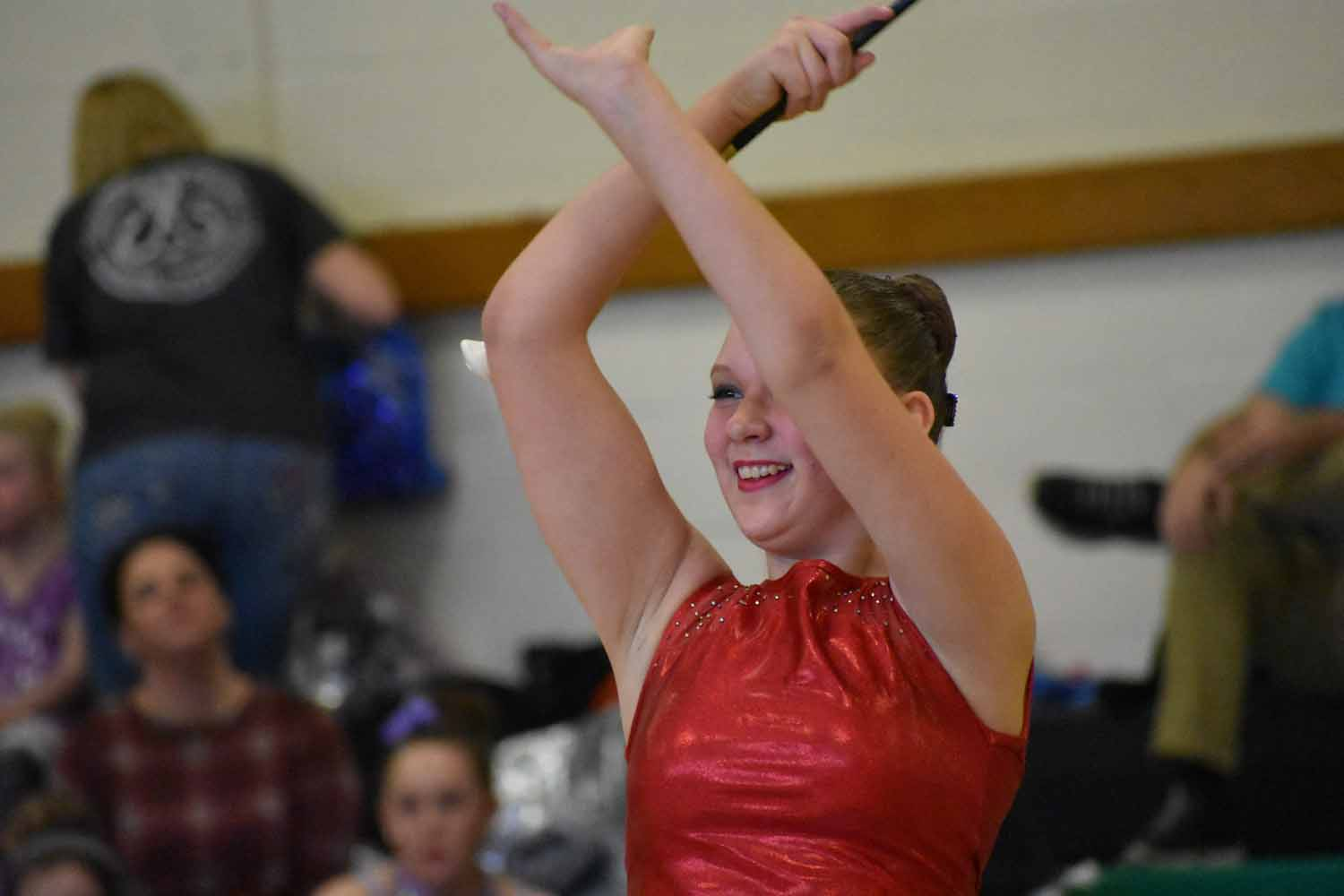 All smiles! Eighth grader Danielle Bardelang competes with her teammates in Portage, PA. She enjoyed the competition and can't wait until the next one.