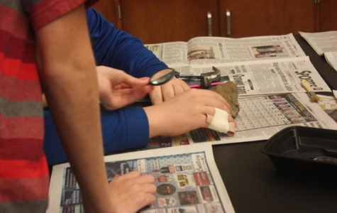 Fossil lab conducted in eighth grade