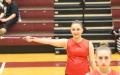 Ninth grade indoor majorettes compete
