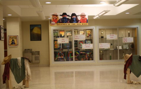 Welcome to the wild west!  Staff had decorated the lobby  for PSSA. Do your best on the test!