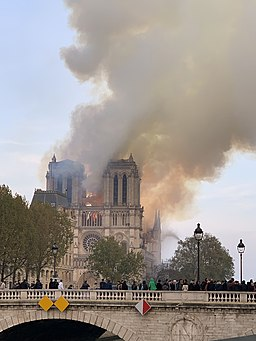 Millions across the country watched as Notre Dame burned but the school community didn't seem to take note.