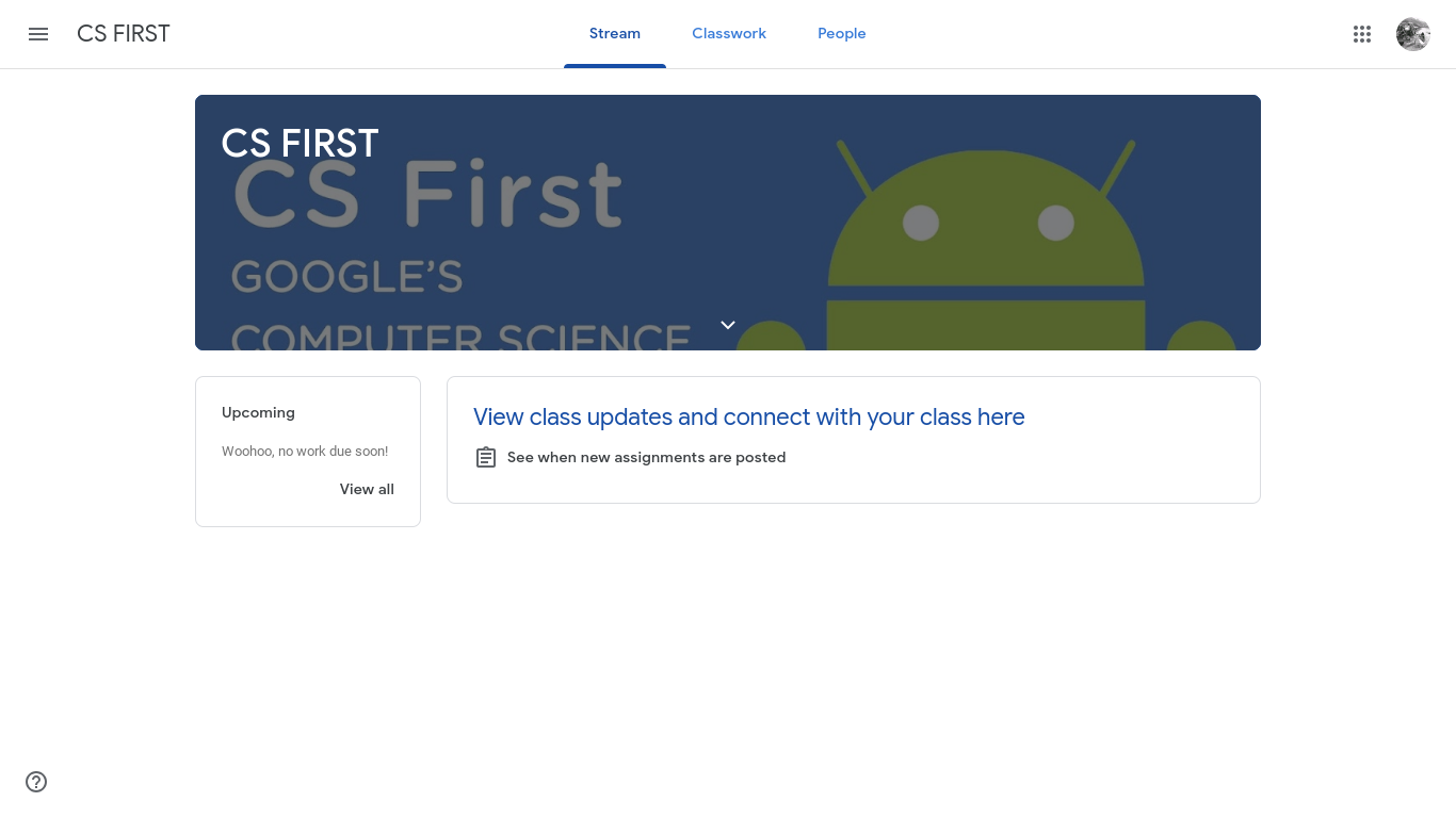 CF club has established a Google Classroom with a link where students can practice their coding.