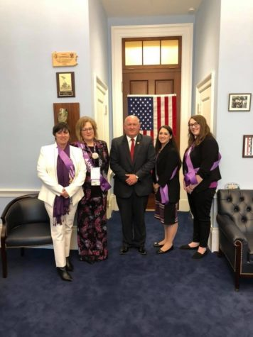 Pfiester attends national advocacy event for Alzheimer's Association