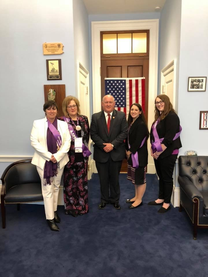 AnnMarie Pfiester met with Congressman GT Thompson during her time in Washington.