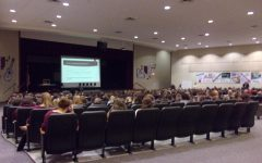 Marissa Hewitt informs students about ATOD