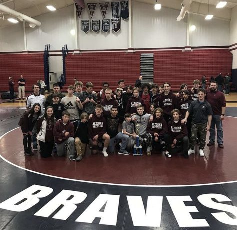 Strike a pose! The wresting team poses for a picture. Wrestlers brought home a first place win at the Shikellamy on Dec. 14.