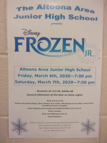 News Brief:  Frozen Jr. underway as spring musical