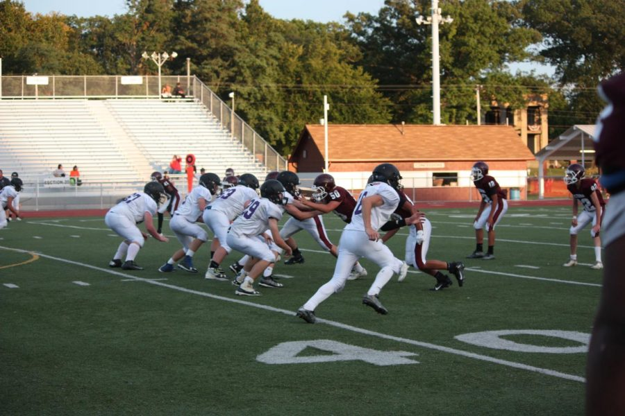 On+Aug.+31+the+football+team+prepared+for+their+first++game+against+Hollidaysburg.+The+boys+won+their+game+14-0.+