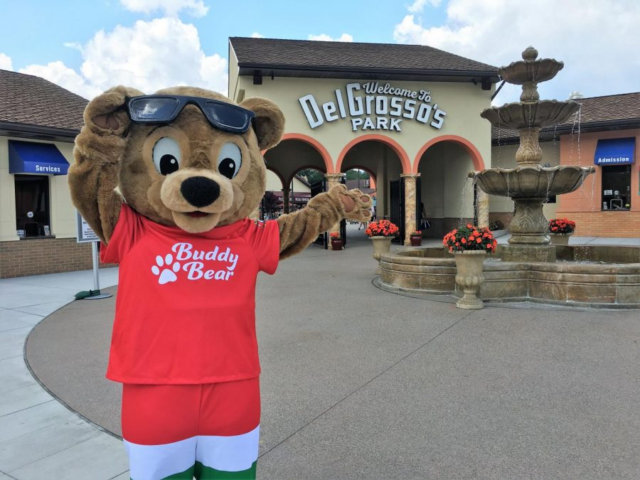 Summer+excitement%21+DelGrosso%27s+mascot%2C+Buddy+Bear%2C+and+park+team+are+preparing+for+the+2021+summer+season%21+The+amusement+park+has+over+30+rides+and+attractions%21