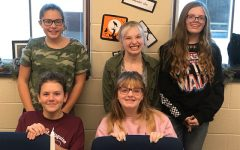 Smile wide! Joining book club allows students the opportunity to make friends, to read and to be a part of a fun activity. Members of the book club in 2019-2020 posed for a group photo! Last years members were Emily Pentland, Olivia Noel, Charlie Kephart, Marayah Ginther and Alaina Noel.
